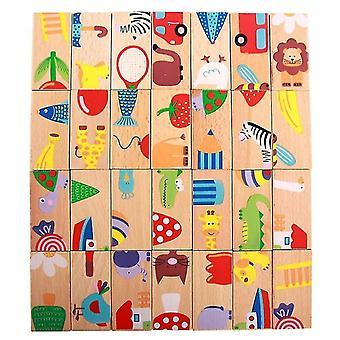 Drevené Domino ovocie zvierat Uznanie Haldy Veža Puzzle toy