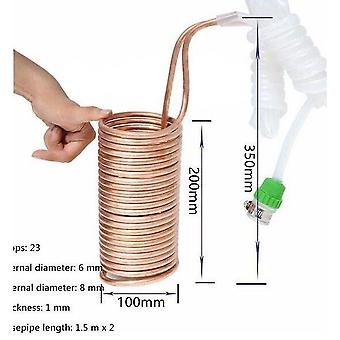 Beer brewing grains malts wort chiller cooler elevated coil home brew beer tube