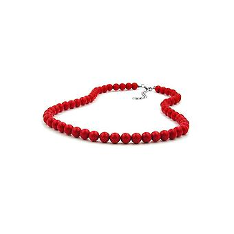 Necklace Beads 8mm Red Shiny 80cm 45685 45685 45685
