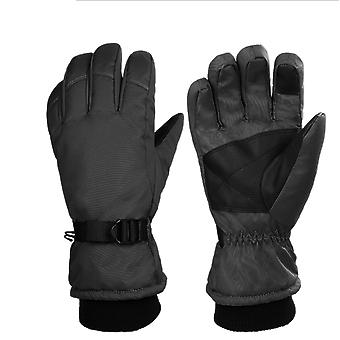 Lyžařské rukavice Teplé zimní rukavice Venkovní rukavice Protiskluzové větruodolné rukavice Sportovní Závodní Mtb Horolezecké turistické rukavice, muži a ženy k dispozici v černé barvě (siz