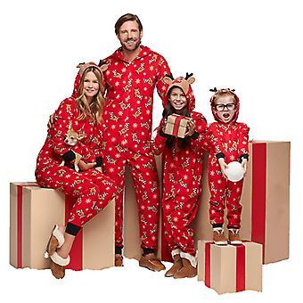 Familie bijpassende rendier kerst pyjama set volwassen kinderen baby jumpsuit
