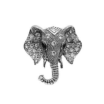 Hot - Selling Animal Fashion Alloy Diamond - Inset Elephant Lapel Pin Badge