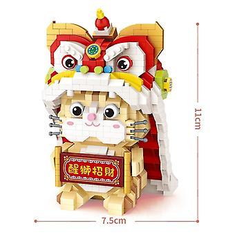 950 Blocs de Construction Lion Dance Modèle Jouet