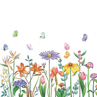 plante hage blomst vegg klistremerke dekal (størrelse: 111cm x 48cm)