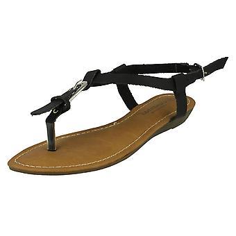 Womens Savannah Wedge Toe Post Sandals F0958