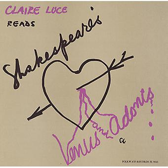 Claire Luce - Claire Luce Reads Venus & Adonis: By William Shake [CD] USA import