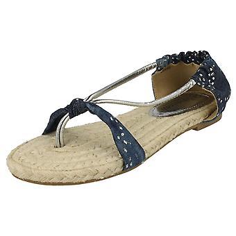 Sandalias de las señoras sabana plana del dedo del pie Post 'L6680'