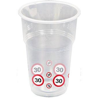 Coppa 10 pz traffico segno numero 30 compleanno boccale 350 ml