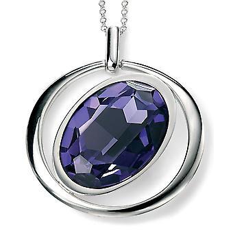 925 Silber Farbtrend Tanzanit Halskette Swarovski-Kristall
