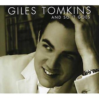 Giles Tomkins - And So It Goes [CD] USA import