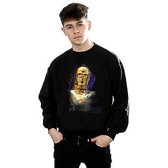 L'ultimo Jedi C-3PO Star Wars maschile spazzolato Sweatshirt