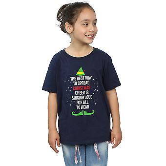 Elf flickor jul Cheer Text T-Shirt