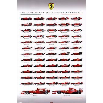 Ferrari F1 - эволюция Плакат Плакат Печать