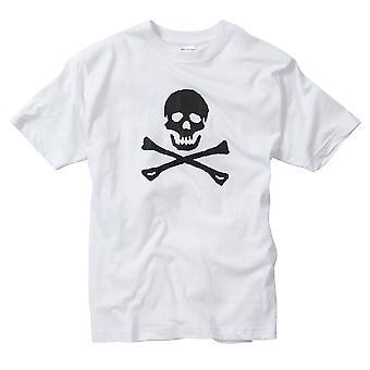 Schedel en Crossbone afgedrukt T-shirt 100% katoen