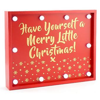 'Have Yourself A Merry Little Christmas' LED Lights Sign