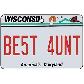 Wisconsin - beste tante License Plate auto luchtverfrisser