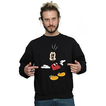 Myszka Miki Disney mężczyzn zaskoczony Bluza