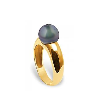 Pearl Ring of Culture of White water and yellow gold 375/1000 5668
