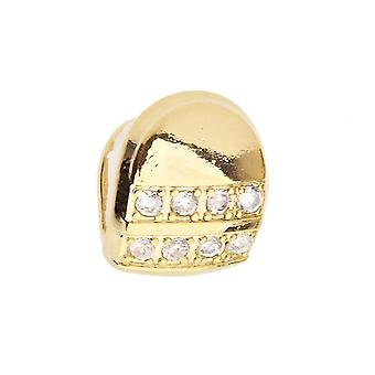 Micro pave single tooth XL Grill - one size fits all - gold
