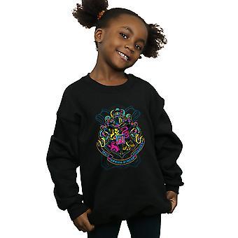 Harry Potter flickor Neon Hogwarts Crest Sweatshirt