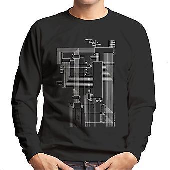Dragon 32 Computer Schematic Men's Sweatshirt