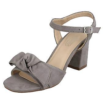 Ladies Spot On Blocked Heel Sandals