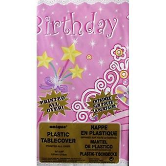 Verjaardag Prinses partij Plastic lekvrije tafelkleed maat 54
