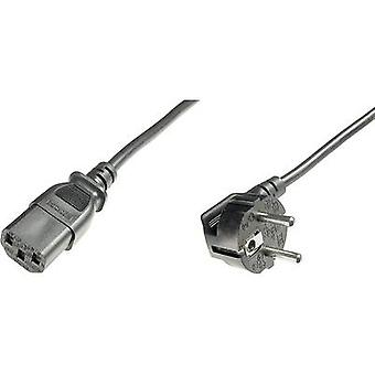הכבל הנוכחי של החברה [תקע 1 x PG-1x IEC C13 socket] 0.75 m שחור