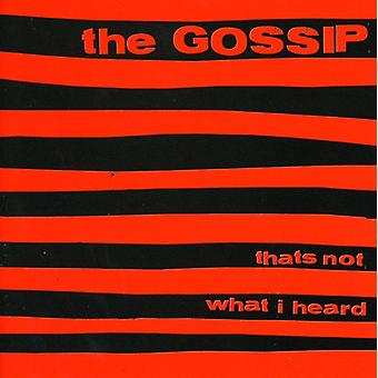 Gossip - That's Not What I Heard [CD] USA import