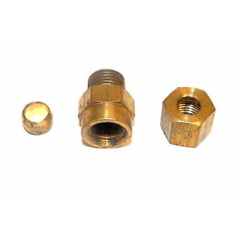 Big A Service Line 3-16642 Hydraulic Connector Fitting 1/4 x 1/8