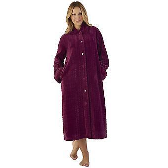 Slenderella HC2341 Women's Faux Collar Robe Loungewear Bath Dressing Gown