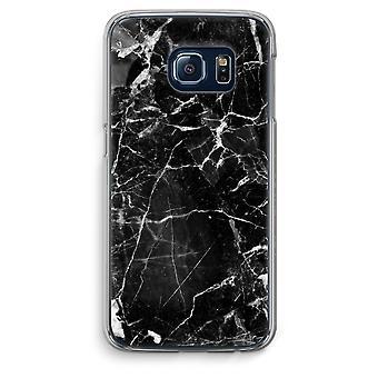 Samsung Galaxy S6 Transparent Grenzfall (Soft) - schwarzem Marmor 2