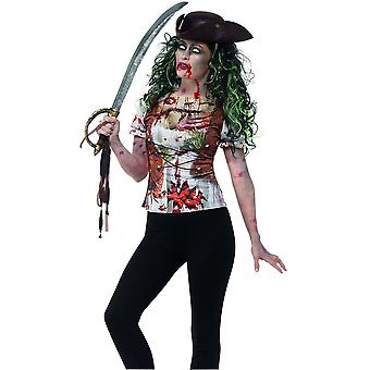 Costumes pour enfants ladies Zombie pirate t-shirt