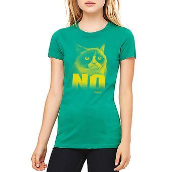Grumpy Cat nie ma kobiet Kelly Green zabawny T-shirt