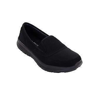 Mesdames pompes légers glisser sur plat confortable Sport Gym formateurs chaussures de marche