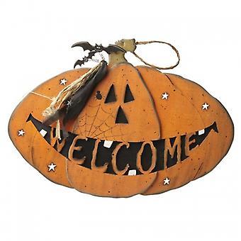Heaven Sends Large Halloween Pumpkin Welcome Sign