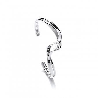 Cavendish Französisch Sterling Silber entwirrte Ribbon-Stulpe-Armband