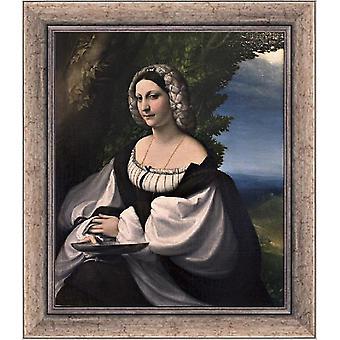 Med ram Portrait of a Gentlewoman,Correggio,61x51cm