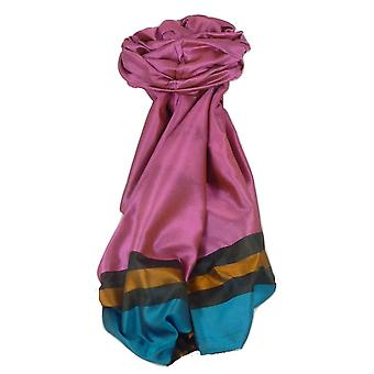 Varanasi Border Prime Silk Long Scarf Heritage Vijaya 200 by Pashmina & Silk
