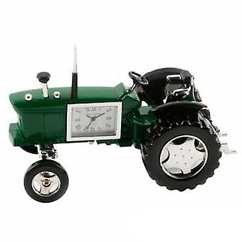 Miniature Farmers Green Tractor Novelty Desktop Collectors Clock 9236G