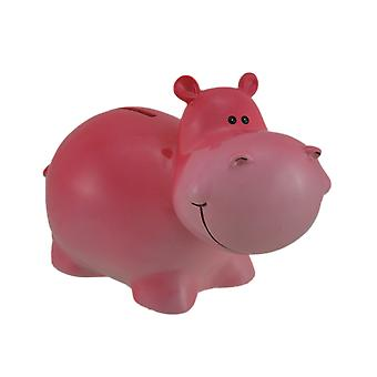 Adorable Pink Hippopotamus Kids Coin Bank