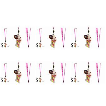 Pack Of 6 Rock Dummies With Sweetie Lanyards