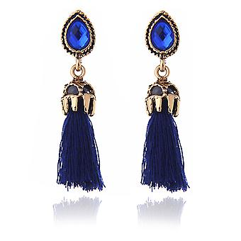 Earrings Vintage tassels Diamond ocean