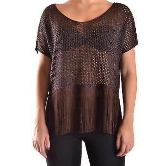 Liu Jo Ezbc086143 Women's Brown Viscose T-shirt