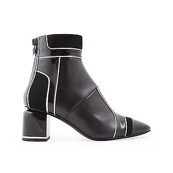 Pierre Hardy Nd03leathermachinablack Women's Black Leather Ankle Boots