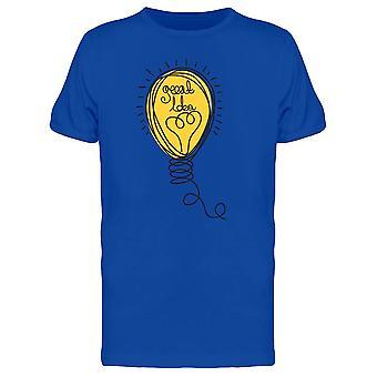Good Idea Curve Lightbulb Tee Men's -Image by Shutterstock