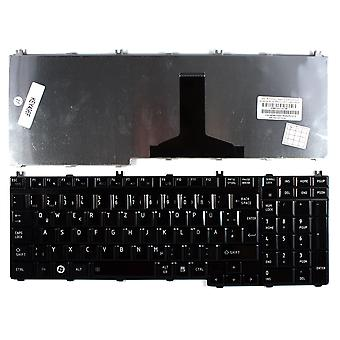 Toshiba AEBD3G00150-GR Glossy Black German Layout Replacement Laptop Keyboard