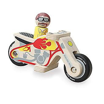 Indigo Jamm Motorrad Micky Holzspielzeug - kommt komplett mit hölzernen Biker