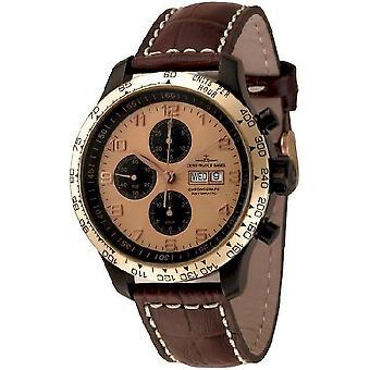 Zeno-watch mens watch OS retro Chrono DD tachymeter 8557TVDDT-BRG-d6
