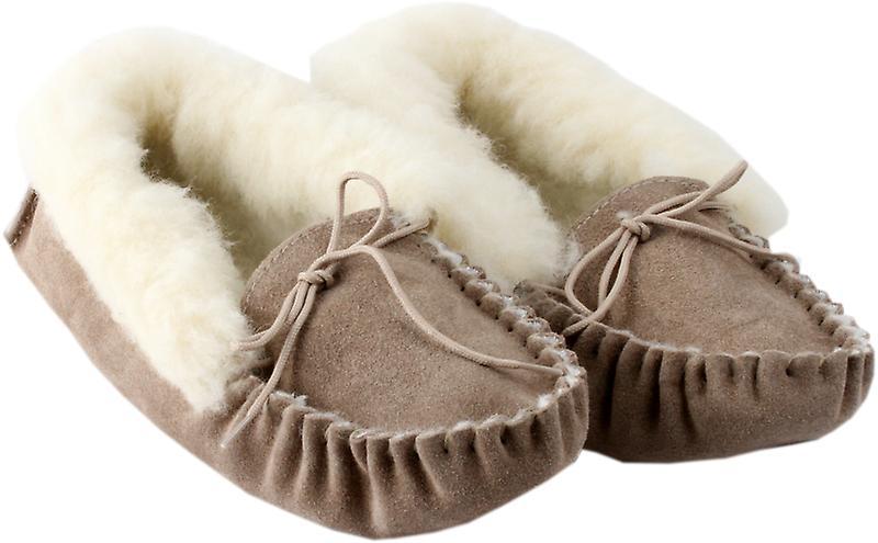 Handmade Natural Women Sheepskin Moccasin Slippers